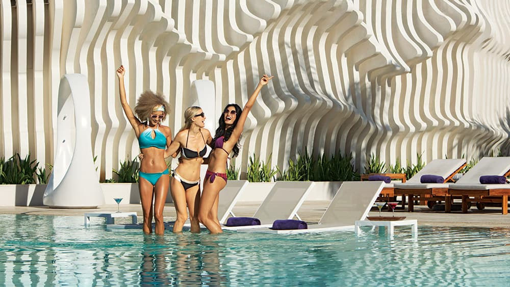 Women partying in the pool at Breathless Montego Bay