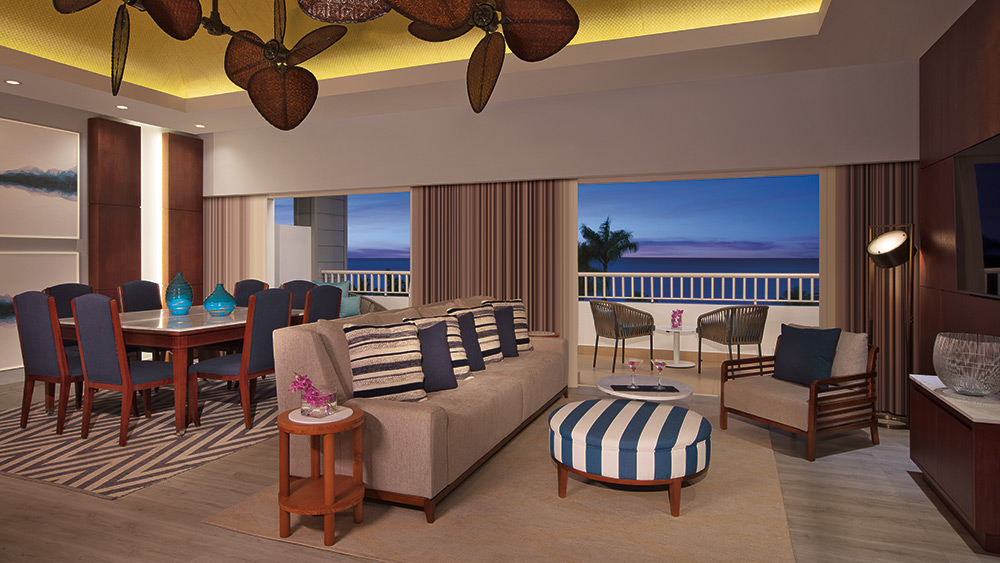 Living room of Preferred Club Presidential Suite at Secrets St James