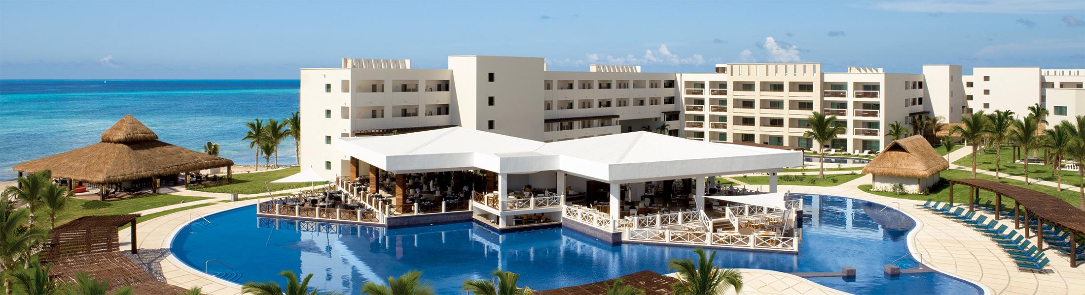 Aerial view of Secrets Silversands Riviera Resort