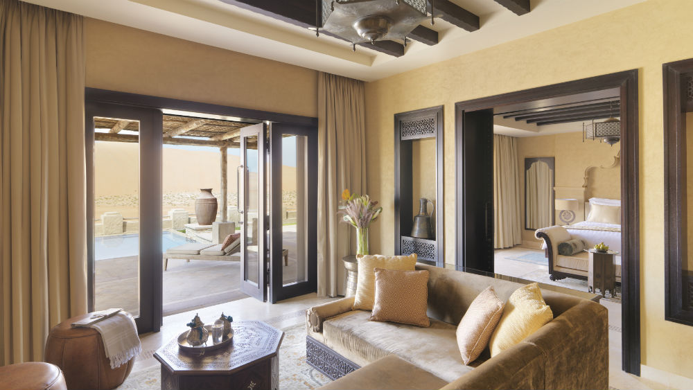 Royal Pavilion Pool Villa at the Qasr Al Sarab Desert Resort