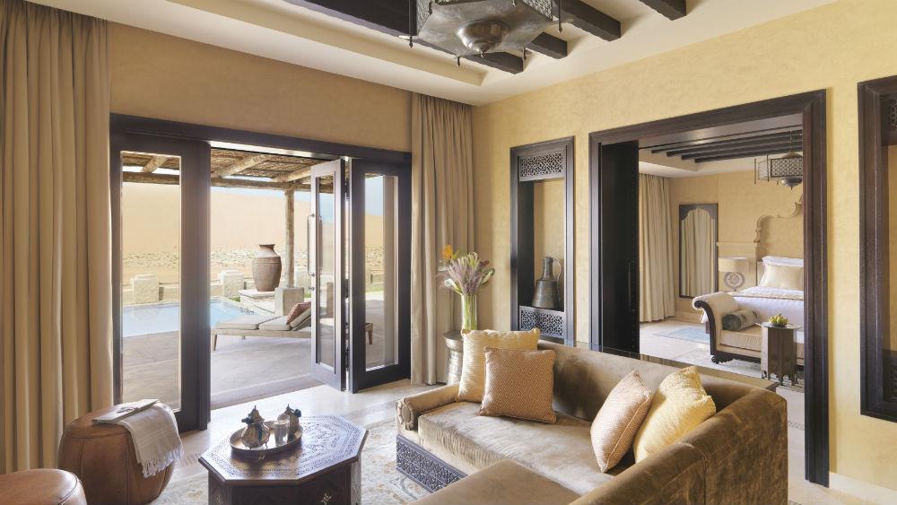 Royal Pavilion Pool Villa at the Qasr Al Sarab Desert Resort