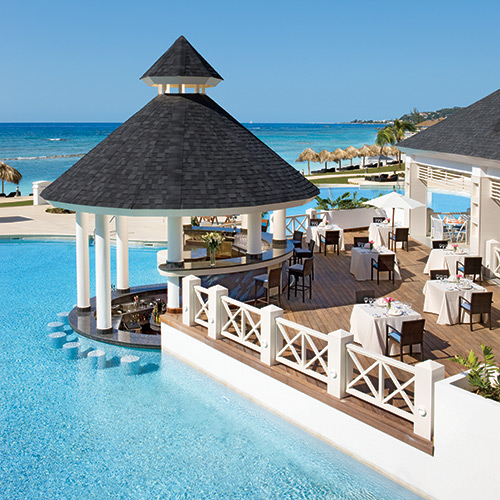 Poolside restaurant at Secrets St James Montego Bay in Jamaica