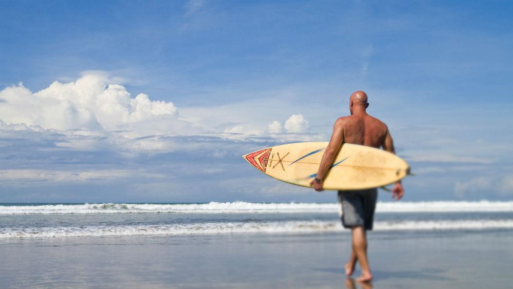 Surfing at the Anantara Seminyak Bali