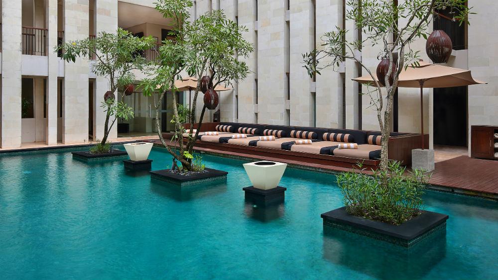 Swimming Pool at the Anantara Seminyak Bali
