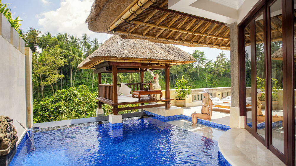 Terrace Villa Bale over Pool at the Viceroy Bali