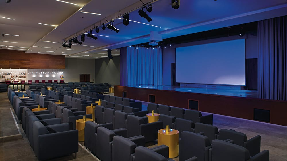 Indoor theatre at Breathless Riviera Cancun