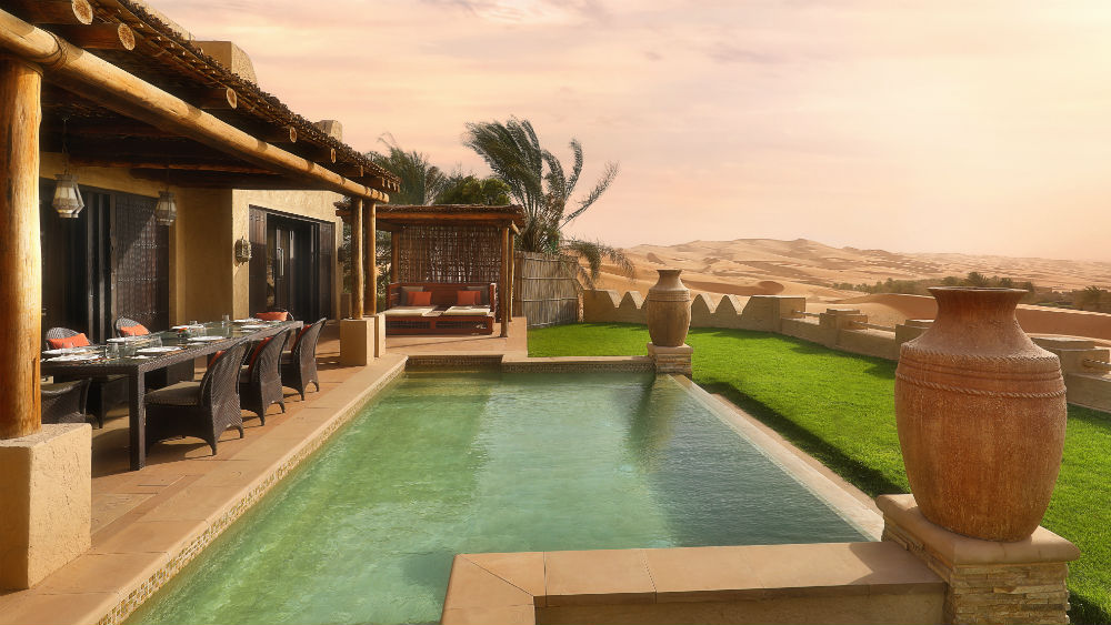 Three Bedroom Villa Pool View at the Qasr Al Sarab Desert Resort