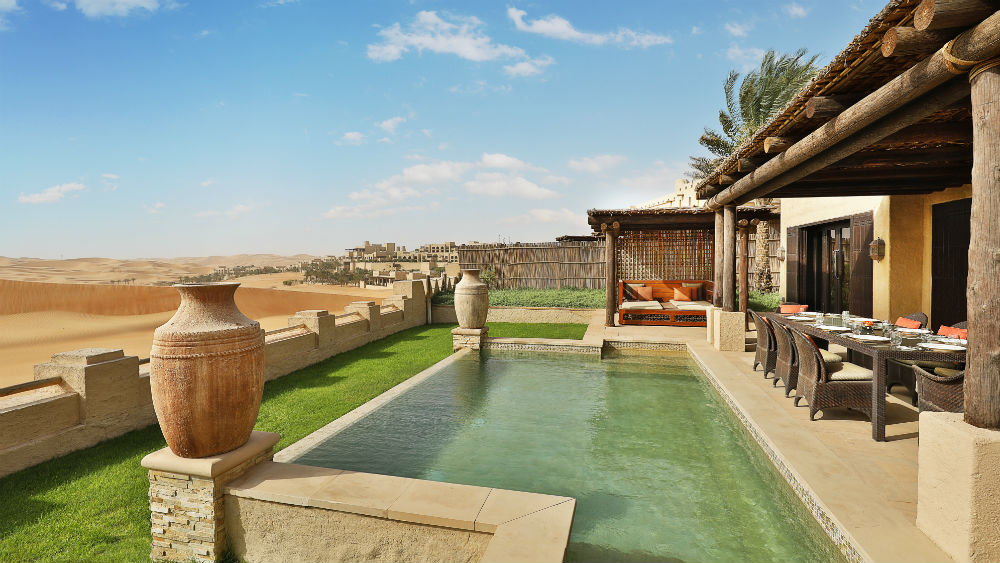 Two BedroomVilla Pool at the Qasr Al Sarab Desert Resort