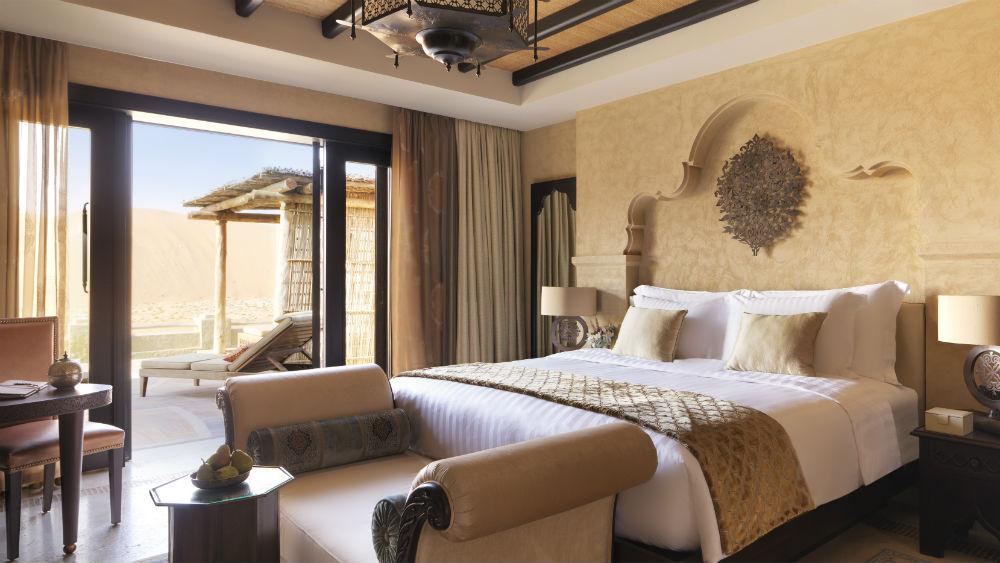 Villa bedroom at Anantara Qasr Al Sarab Desert Resort