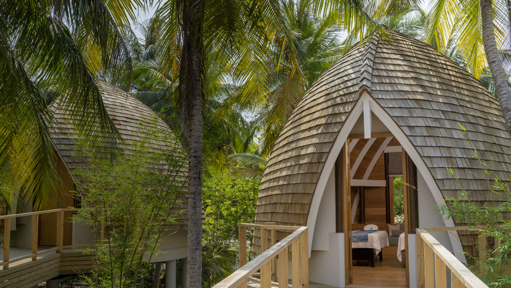 tree top Nika Spa at the Faarufushi Maldives