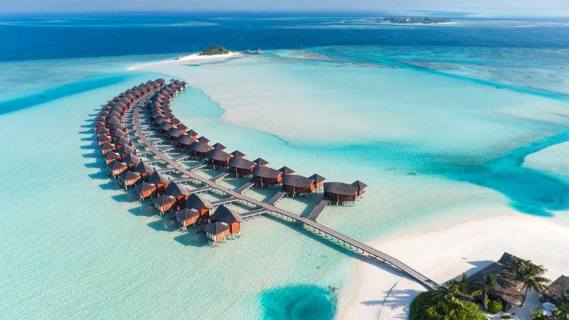 Anantara Dhigu Resort, Maldives aerial shot