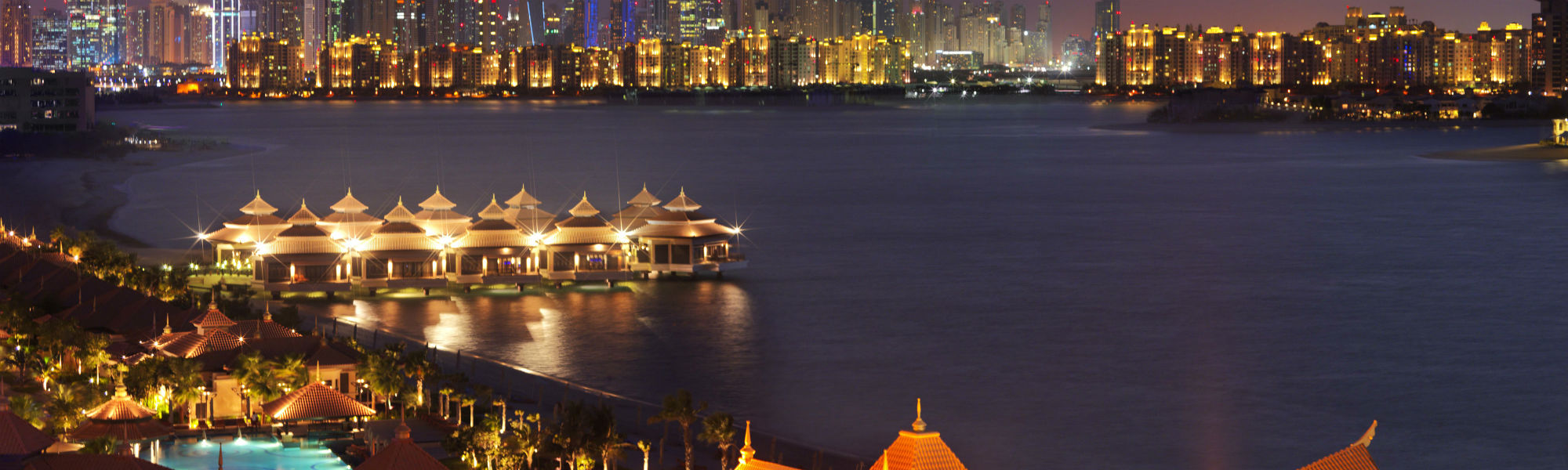 Night views of the Anantara The Palm Dubai Anantara The Palm Dubai