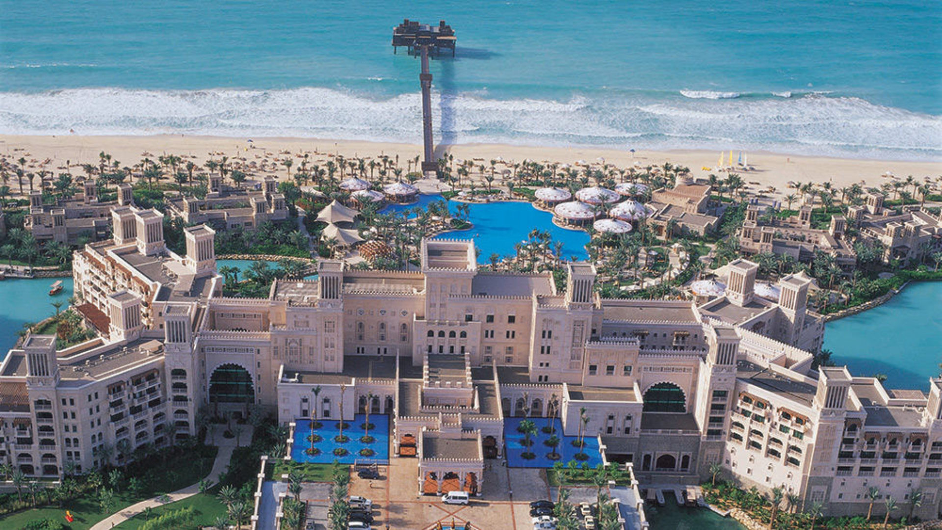 Aerial view of Madinat Jumeirah