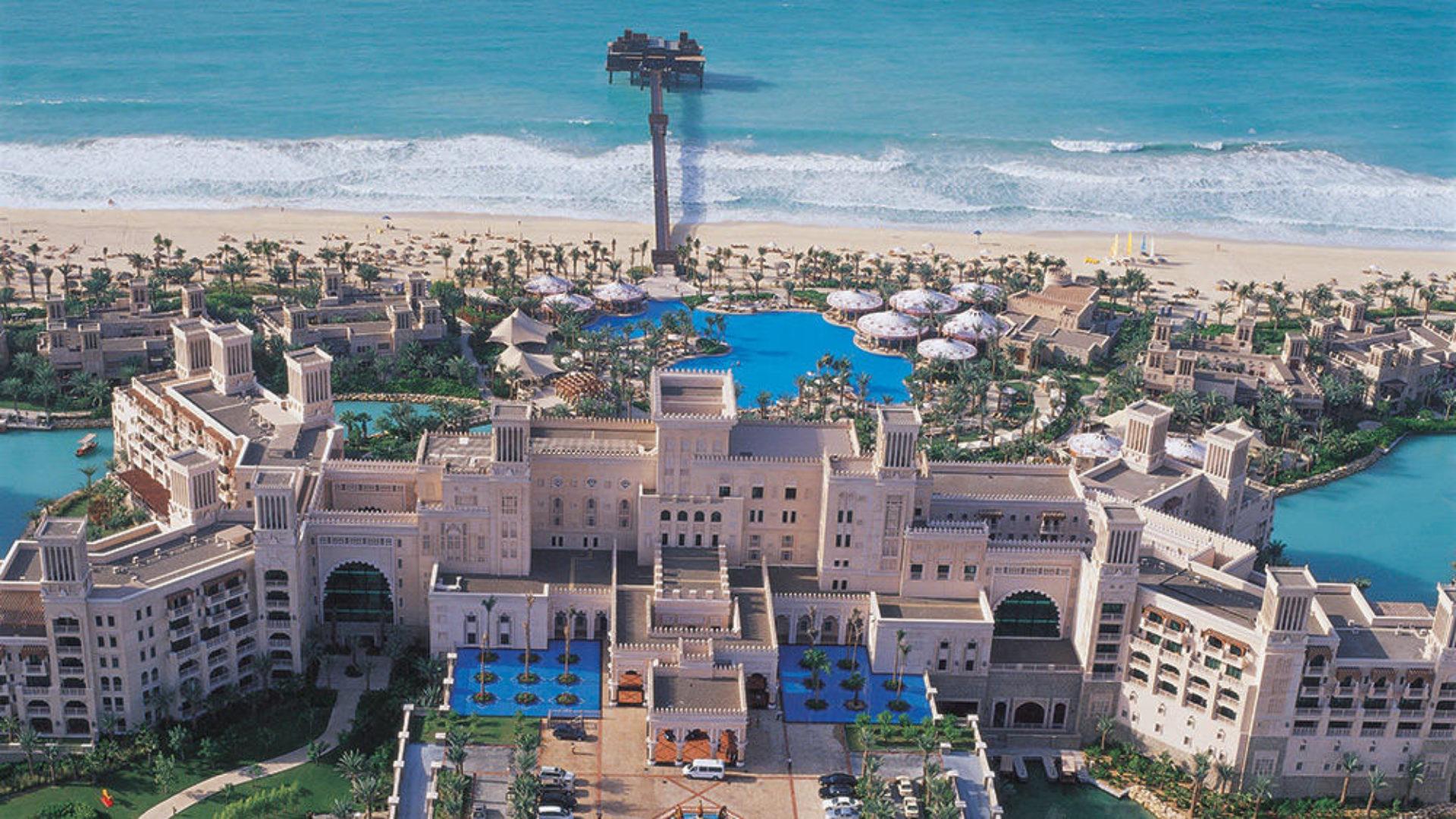 Aerial view of Madinat Jumeirah