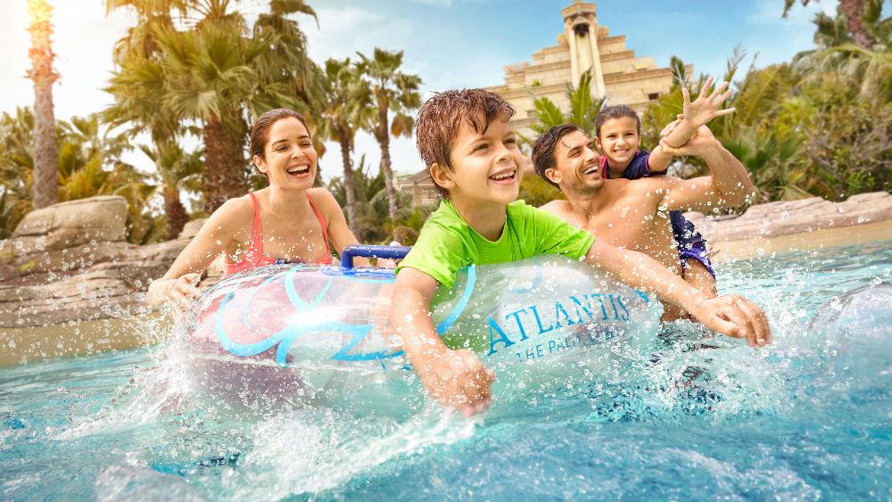 Aquaventure lazyriver at the Atlantis The Palm