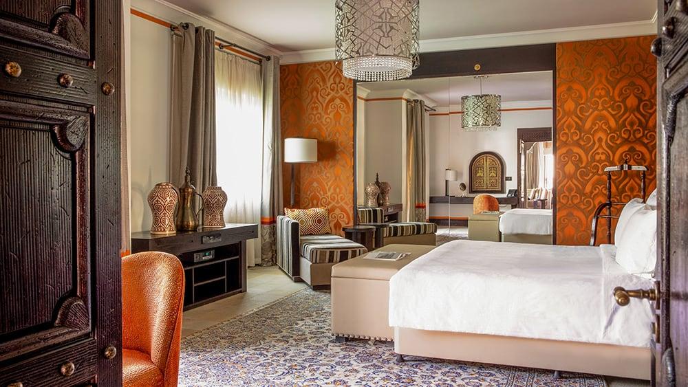 Bedroom of the Arabian Summerhouse Arabian Suite at Jumeirah Dar Al Masyaf