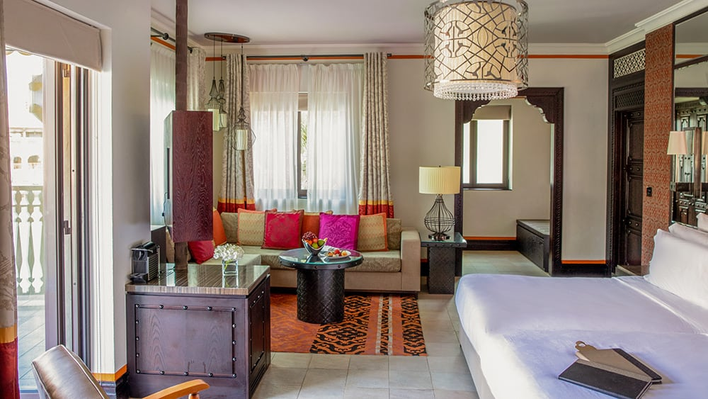 Bedroom of the Arabian Summerhouse Deluxe at Jumeirah Dar Al Masyaf