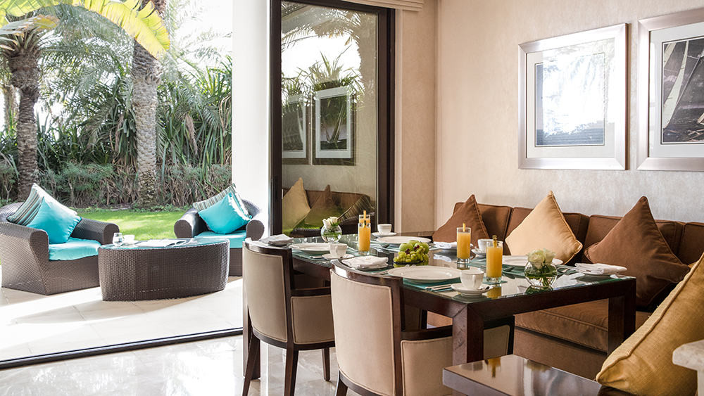 Dining area of the Five Bedroom Royal Residences at Jumeirah Zabeel Saray