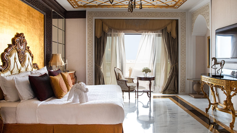 Master bedroom of the Grand Imperial Suite at Jumeirah Zabeel Saray