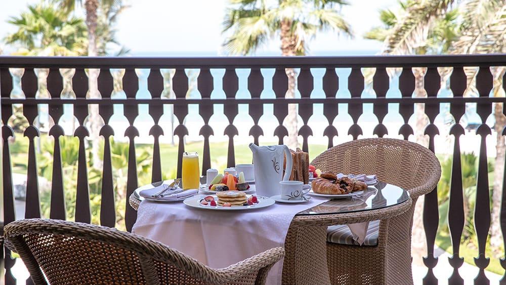 Balcony of the Gulf Summerhouse Ocean Suite at Jumeirah Dar Al Masyaf