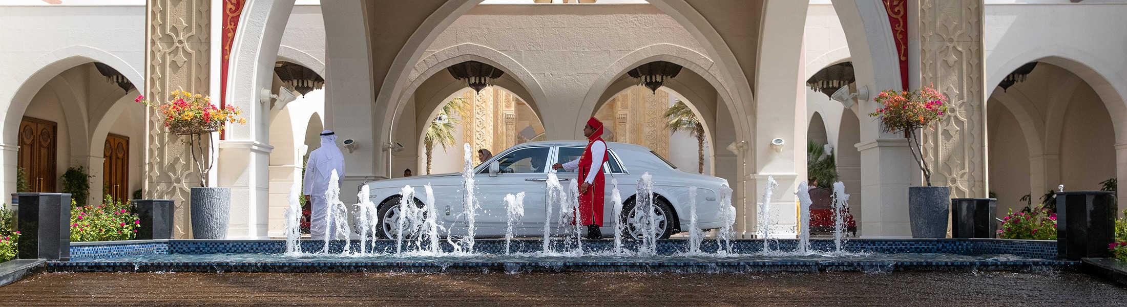 Chaurffeur service at the Jumeirah Zabeel Saray