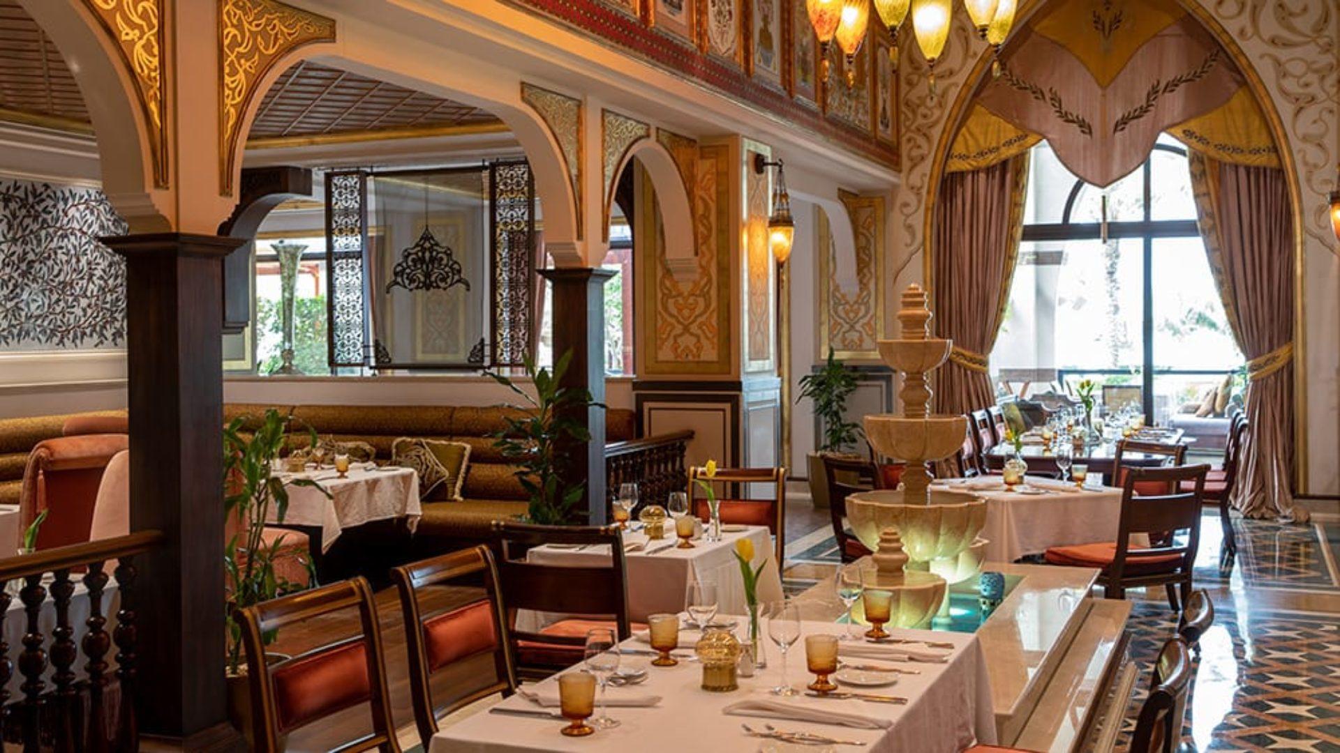 Indoor dining at Lalezar Restaurant at Jumeirah Zabeel Saray