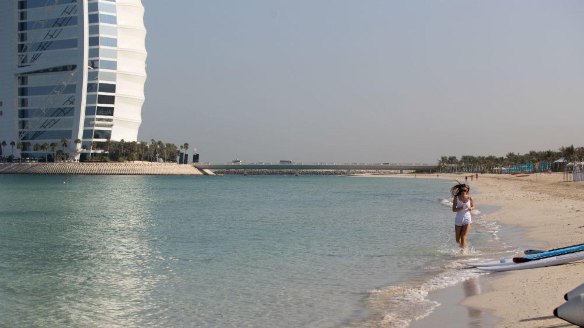 Lady by Beach near the Jumeirah Al Qasr