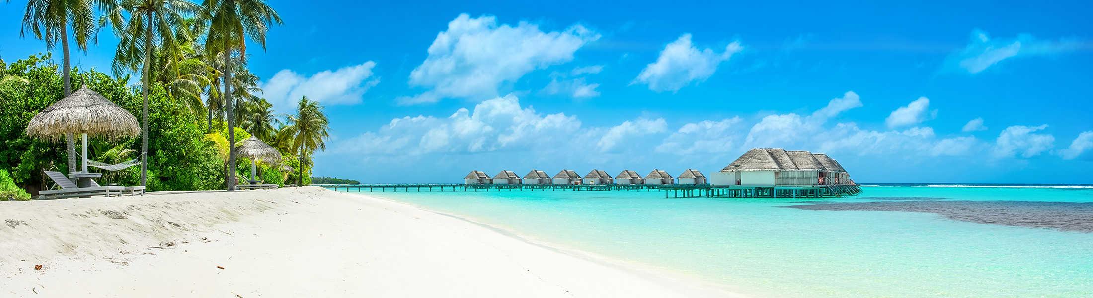 Overwater villas in the Maldives on a Dubai & Maldives Twin-centre