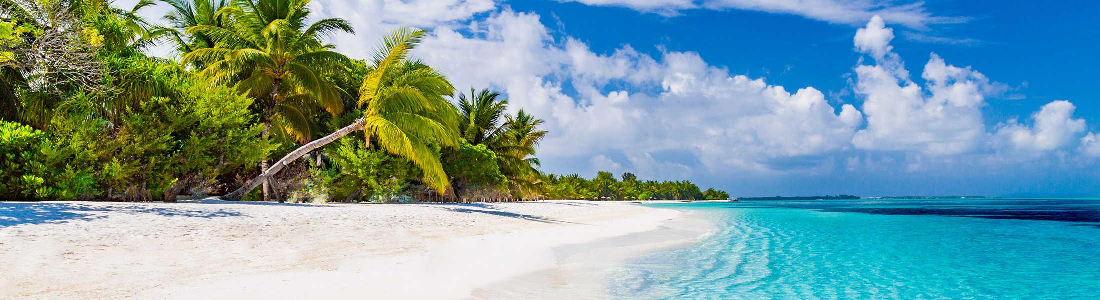 Maldives beach on a Dubai & Maldives twin-centre