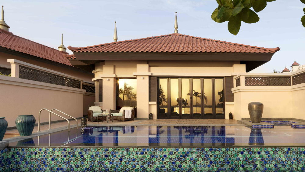 One Bed Beach Villa pool day time at the Anantara The Palm Dubai