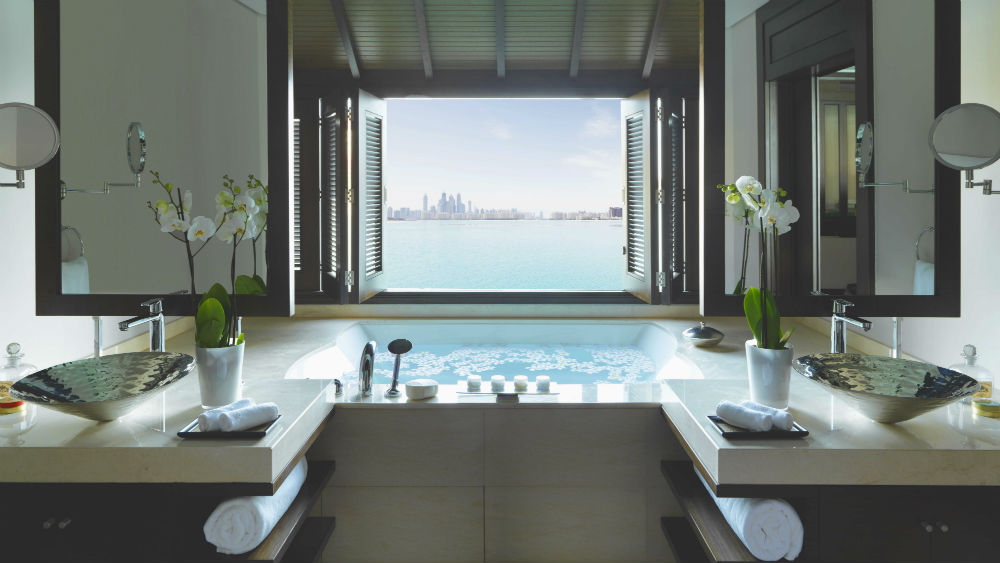 Overwater Villa Bath at the Anantara The Palm Dubai