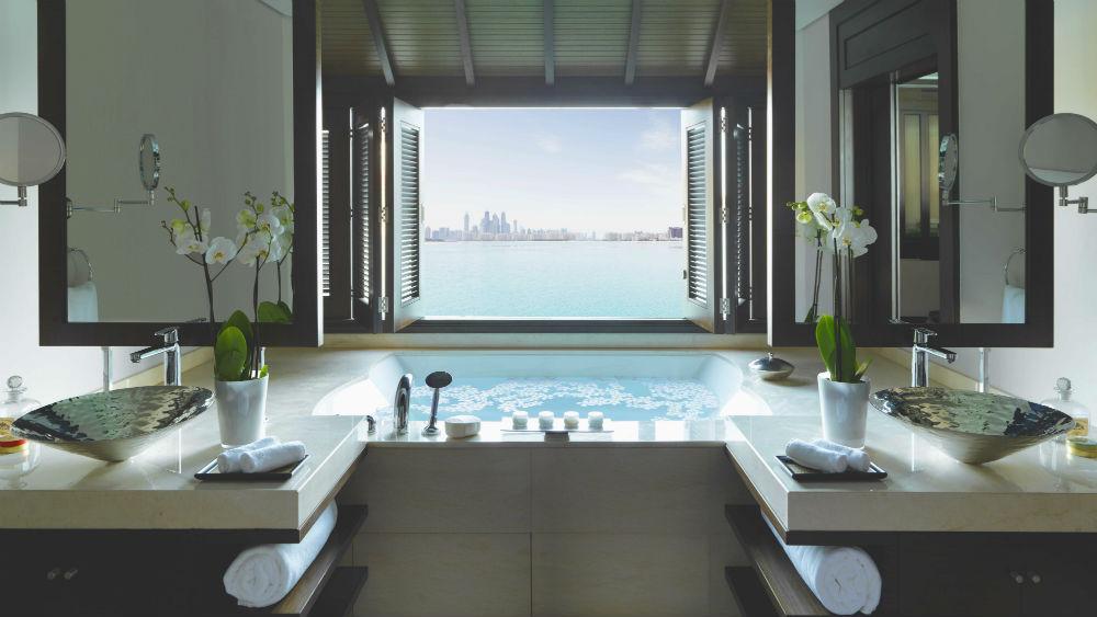 Overwater Villa Bath at the Anantara The Palm Dubai