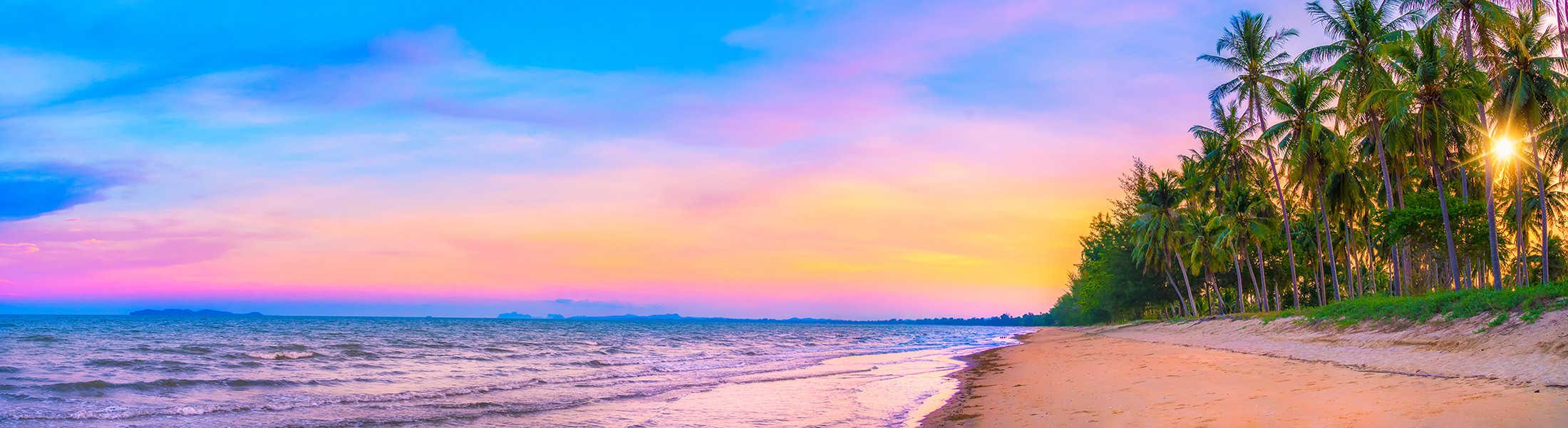 Phuket Beach at Sunset on a Thailand Multi-Centre