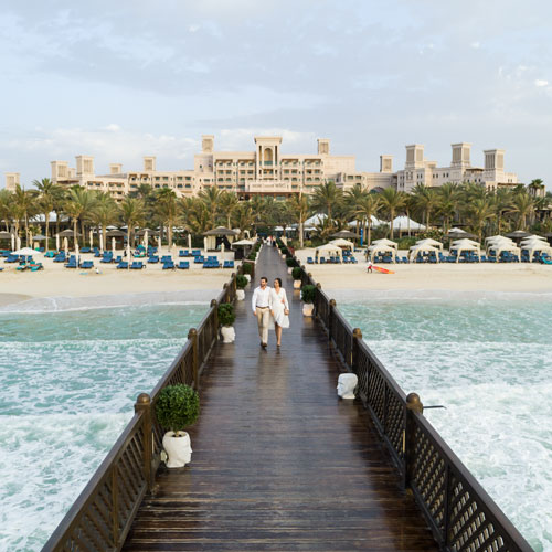 Pier and beach at the Jumeirah-Al-Qasr