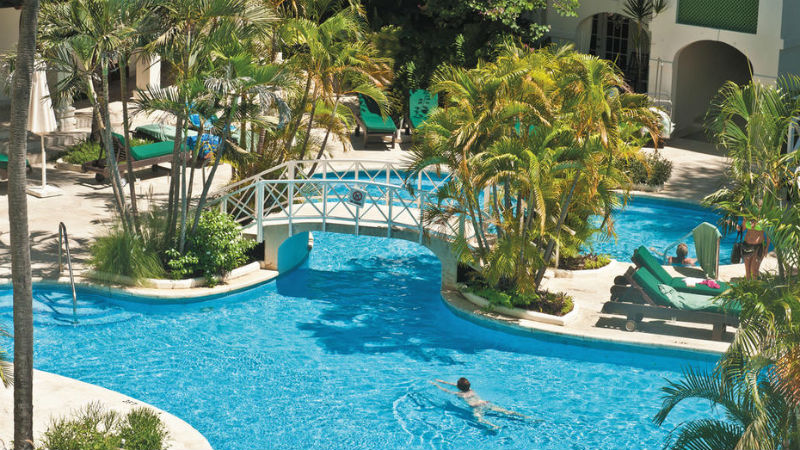 Main swimming Pool at the Mango Bay hotel
