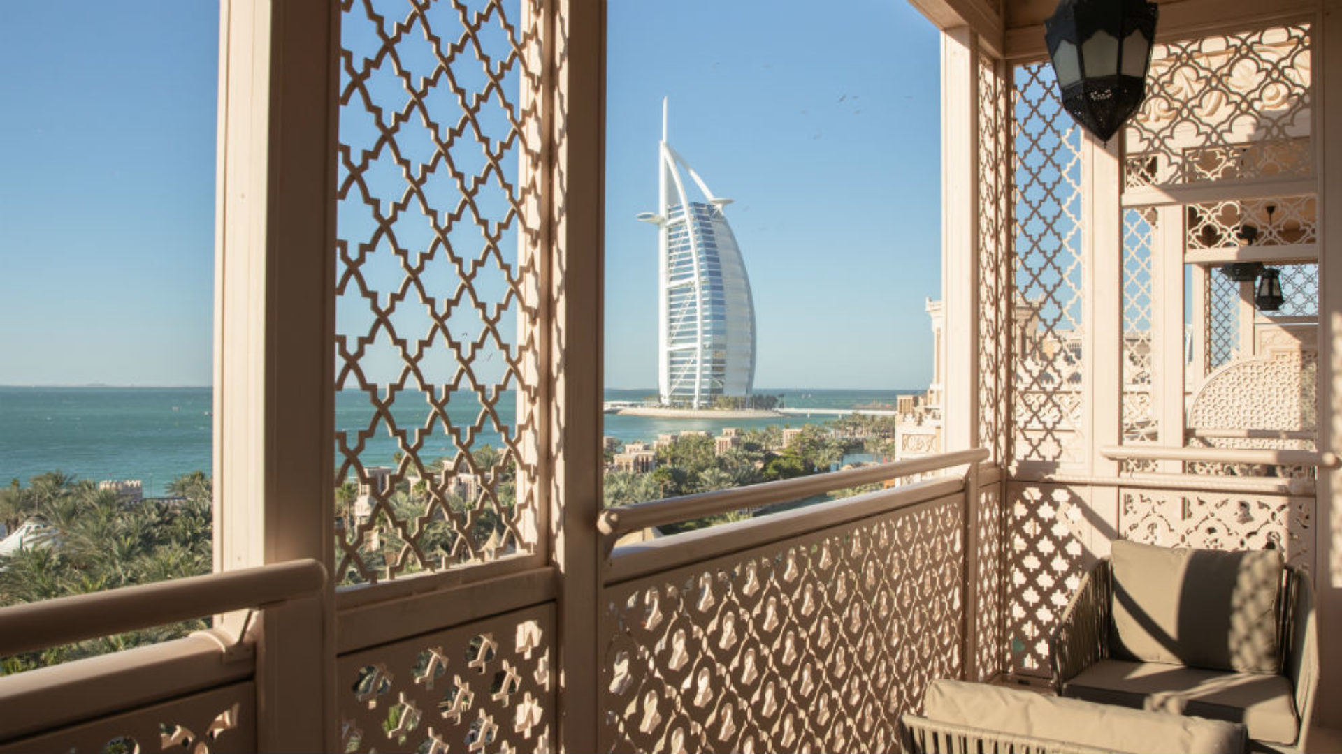 Presidential Suite Balcony at the Jumeirah Al Qasr