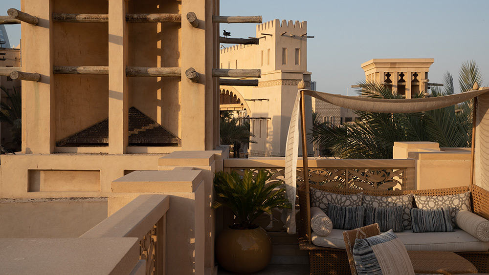 Roof terrace of the Royal Malakiya Villa at Jumeirah Dar Al Masyaf