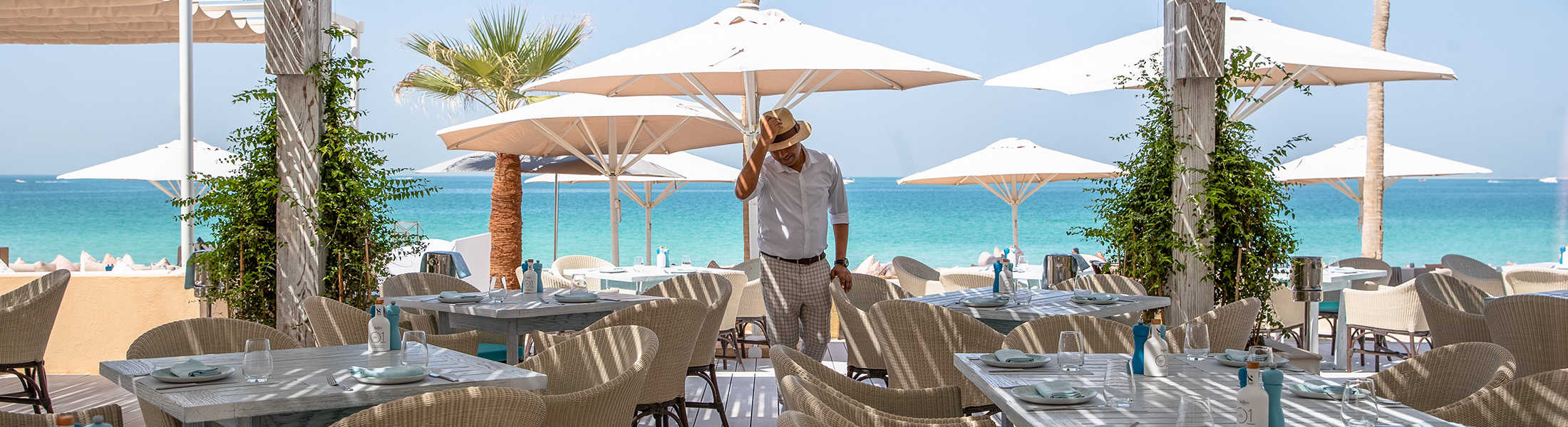Man at Himmers Restaurant at Jumeirah Mina A'Salam