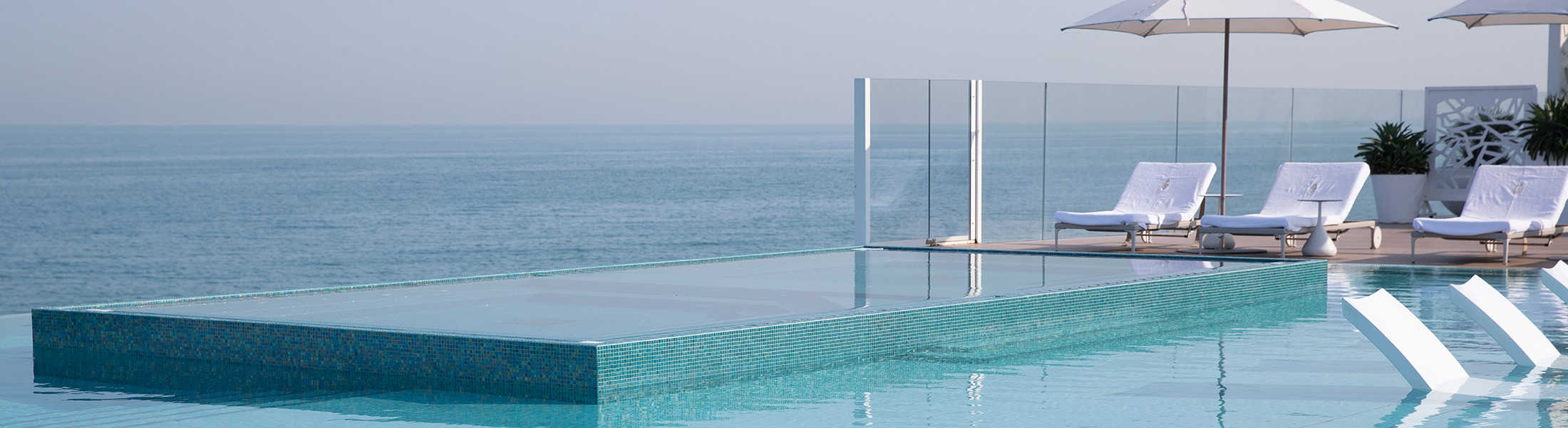 Infinity pool at the Burj Al Arab
