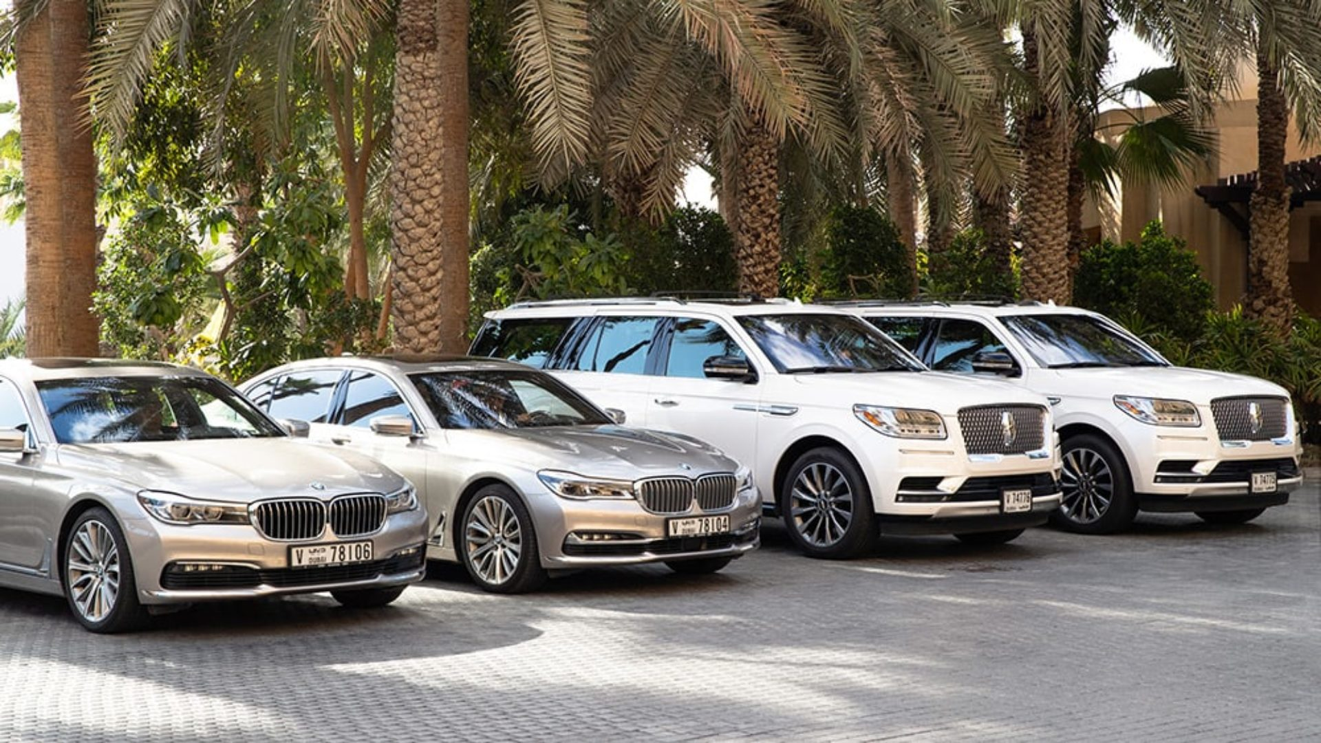 Luxury vehicle fleet at Jumeirah Mina A'Salam