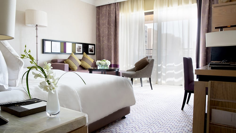 Bedroom of the Two Bedroom Deluxe Family Room at Jumeirah Mina A'Salam