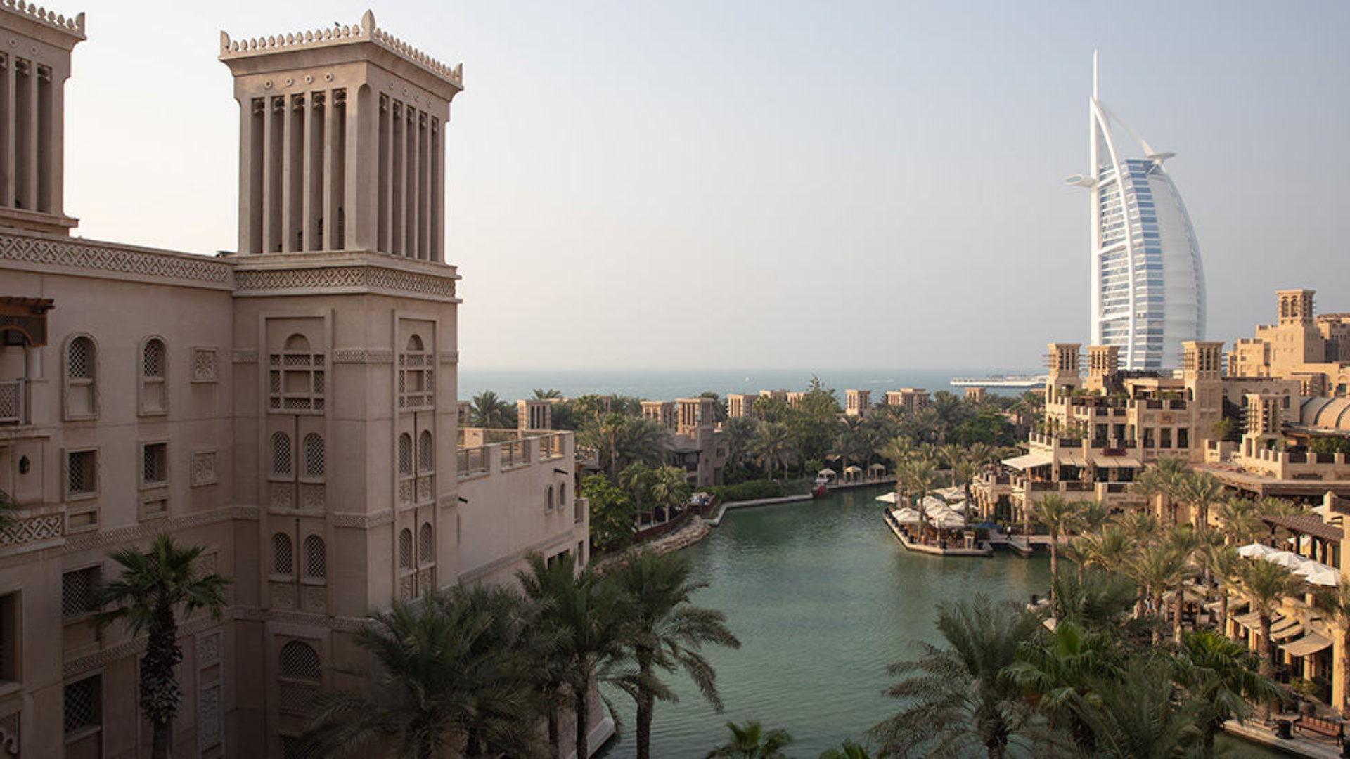 Aerial view of Jumeirah Dar Al Masyaf with Burj Al Arab