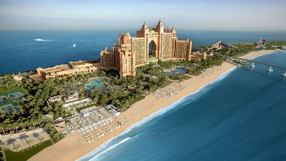 Aerial view of Atlantis The Palm in Dubai