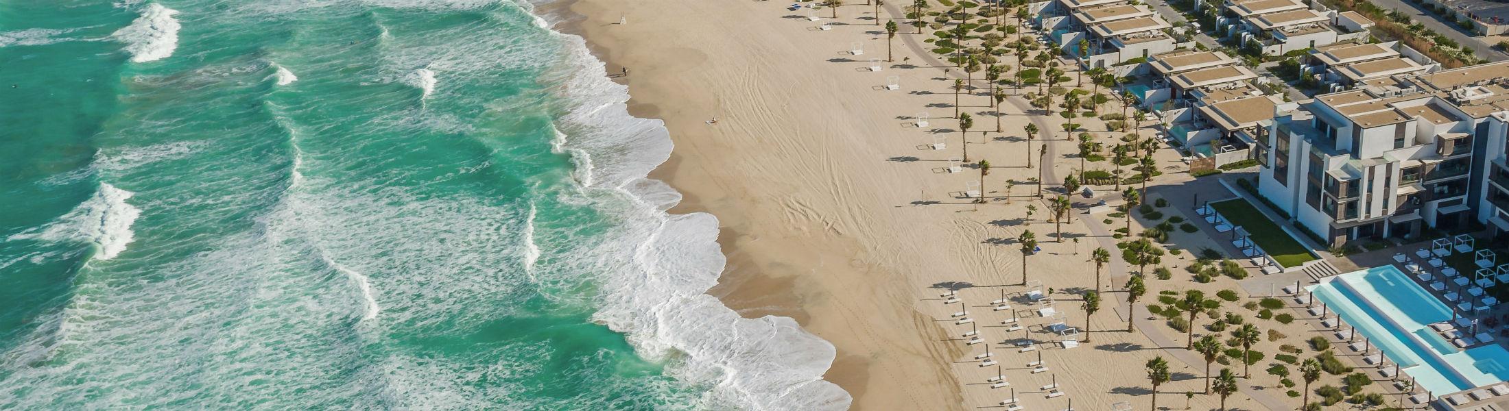 Aerial shot of the Nikki Beach Resort & Spa Dubai