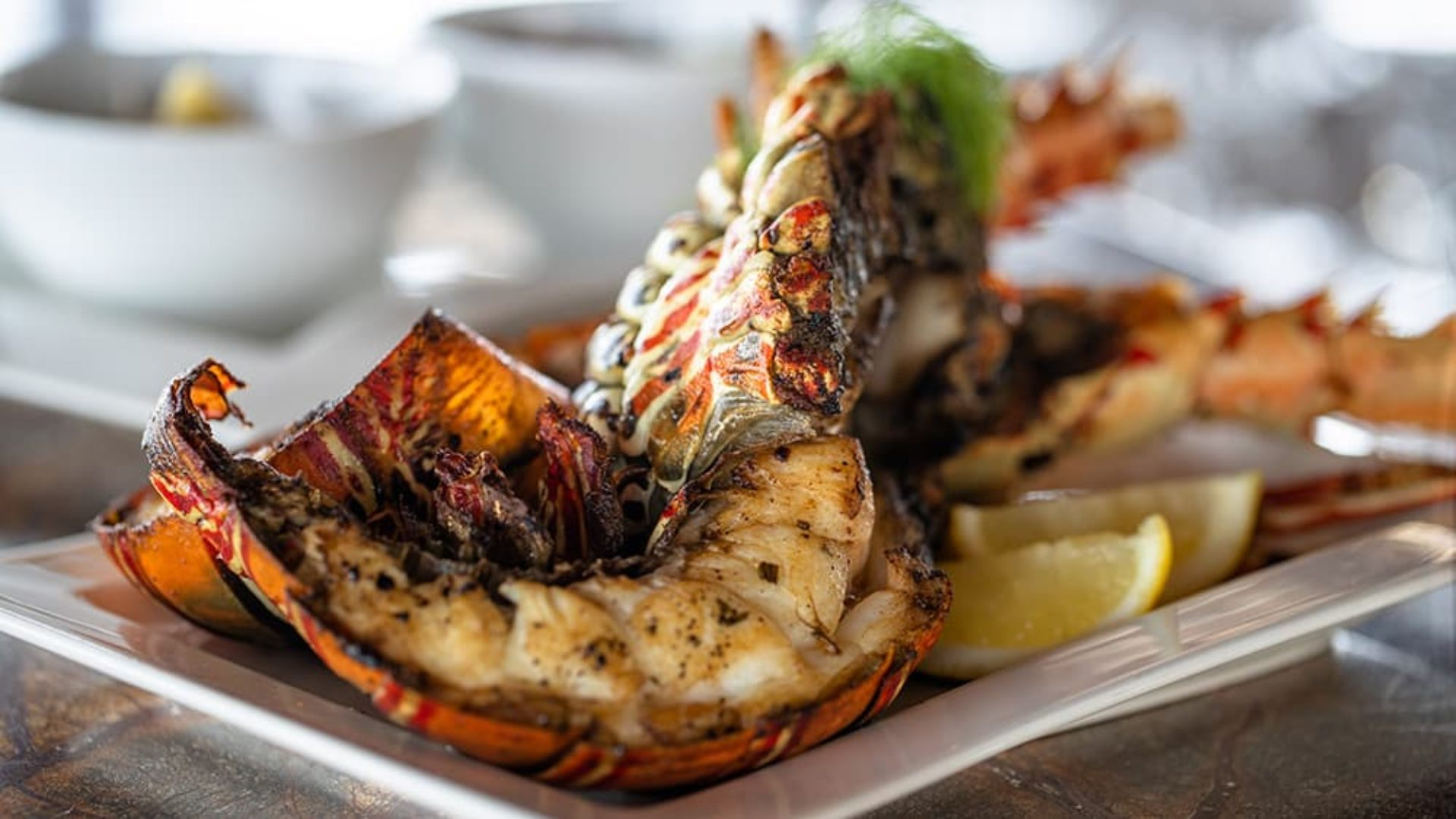 Grilled lobsters served at B4R at Jumeirah Vittaveli