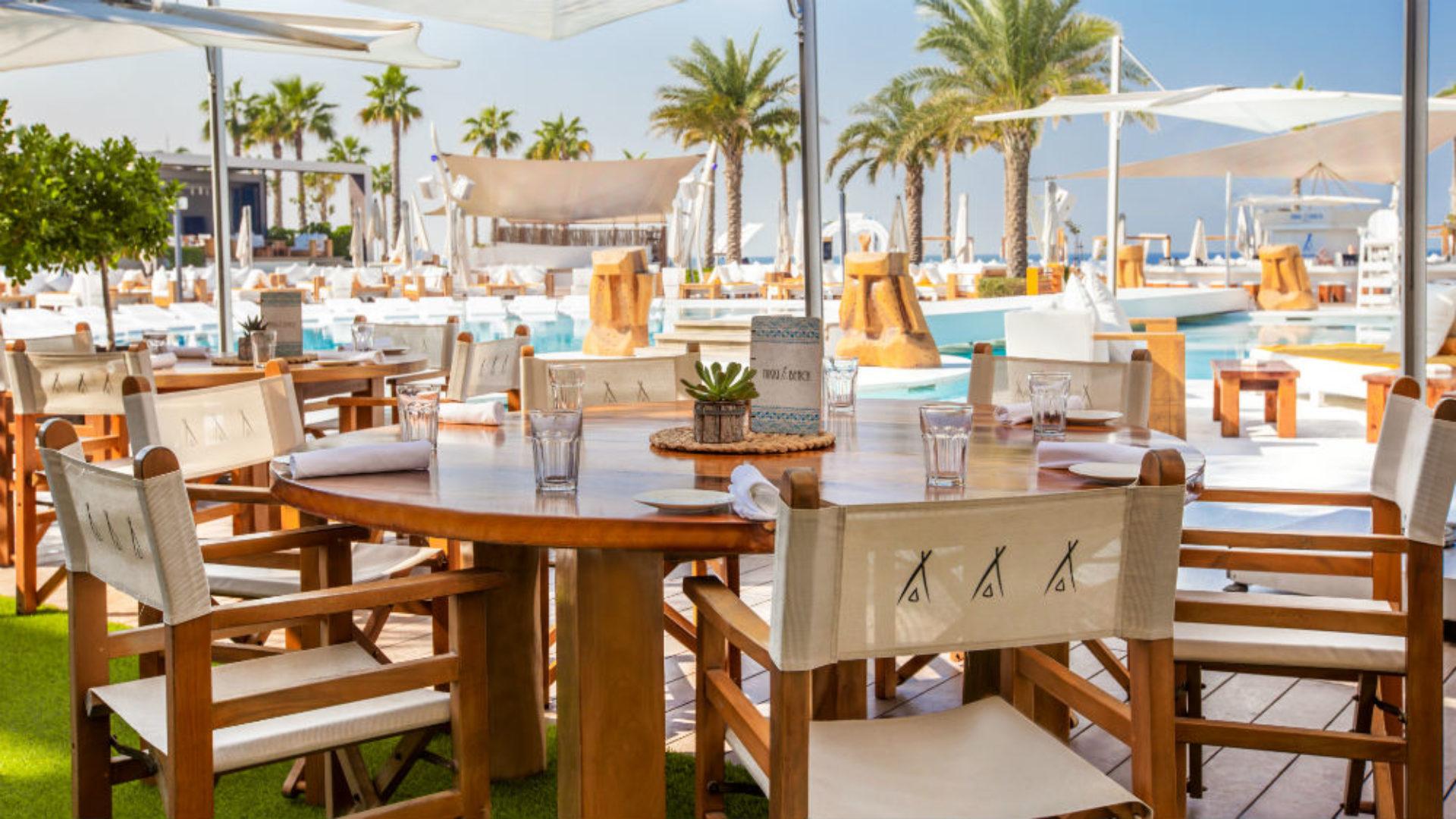 Beach Club restaurant at Nikki Beach Resort & Spa