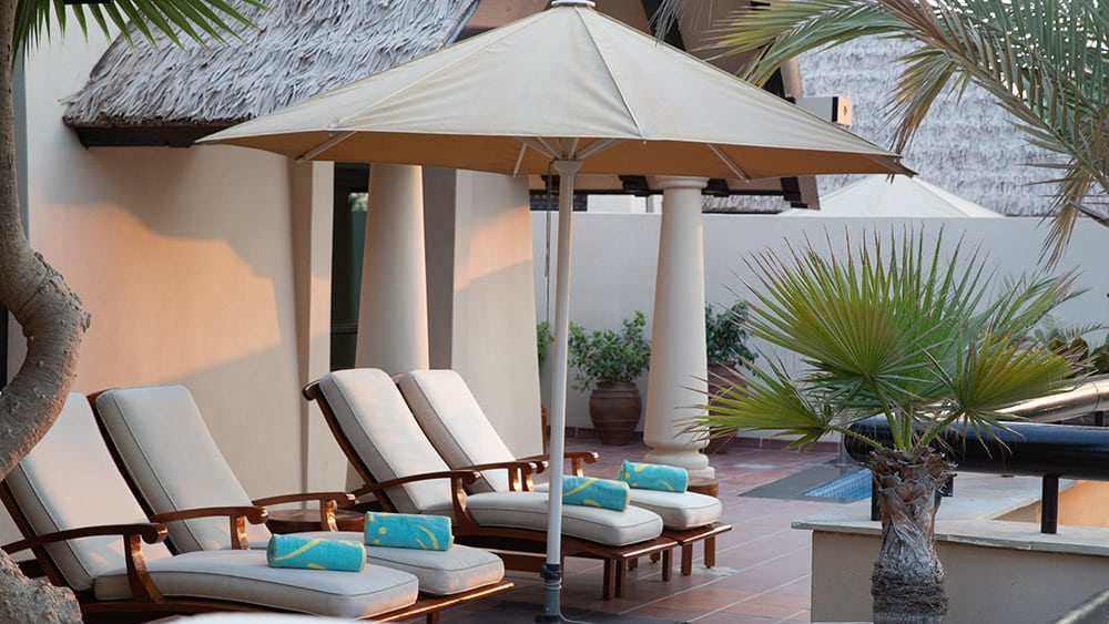 Private pool of the Beit Al Bahar One Bedroom Villa at Jumeirah Beach Hotel