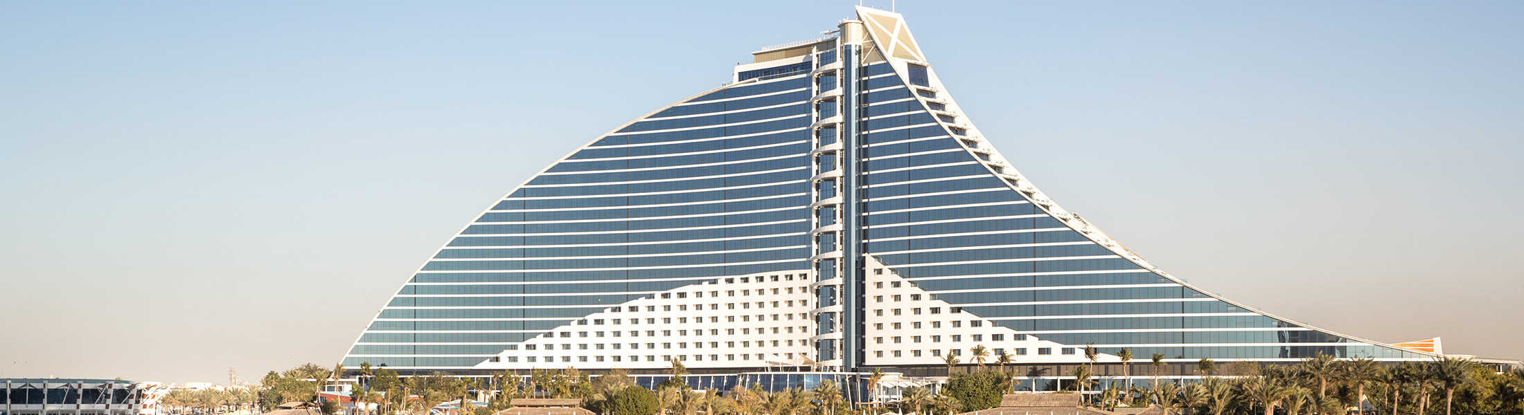 Exterior of the Jumeirah Beach Hotel