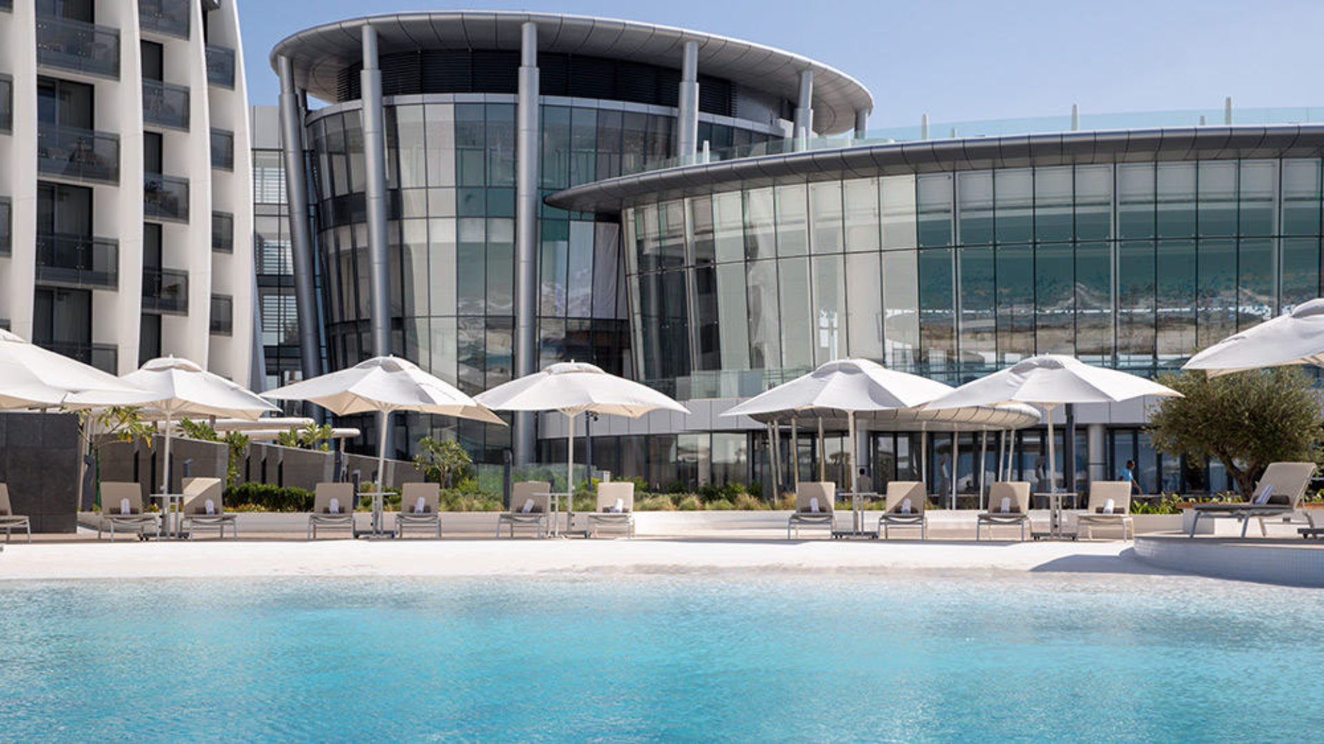 Outdoor pool at Jumeirah at Saadiyat Island