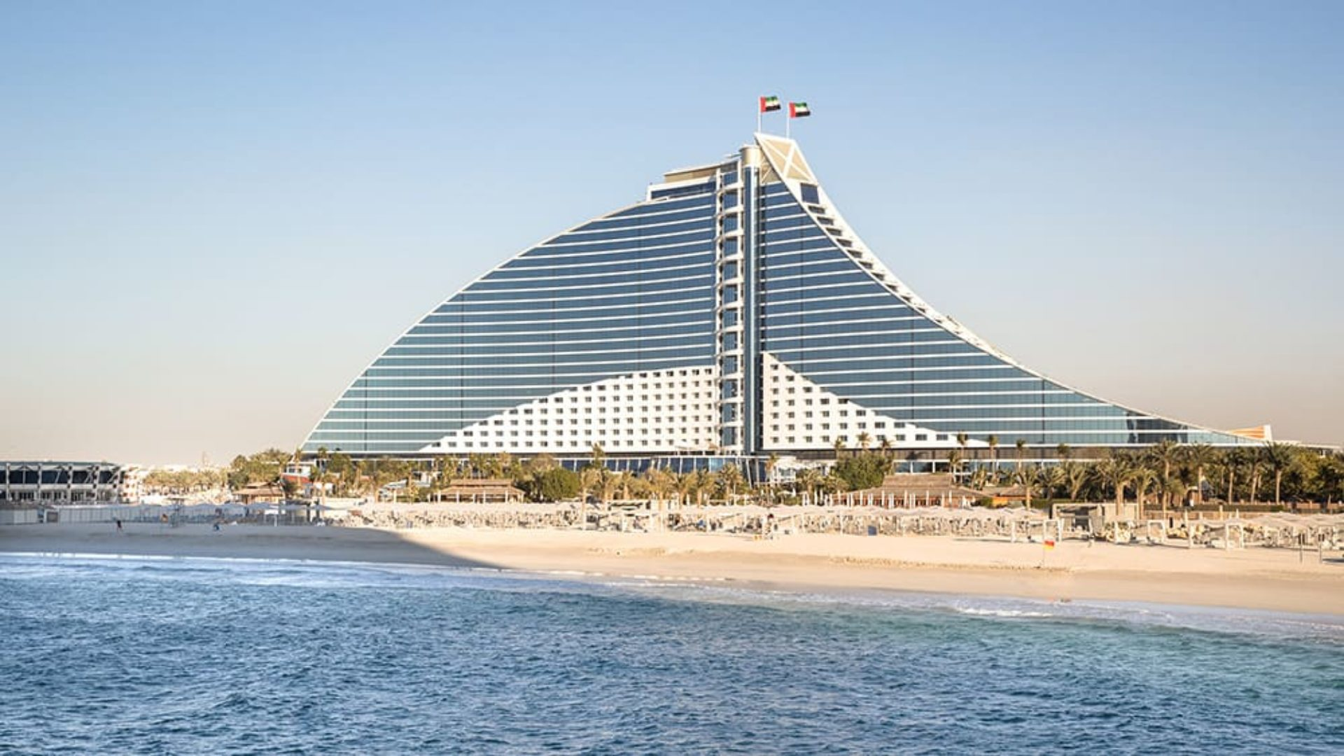 Exterior of the Jumeirah Beach Hotel